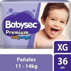 Pañal Babysec Premium Flex Protect Híper Pack XG x 36 un.