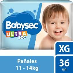 Pañal Babysec Ultra Sec Híper Pack XG x 36 un.