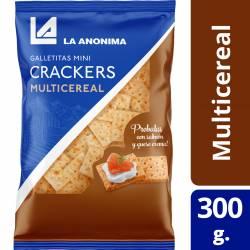 Galletitas Mini Crackers La Anónima Multicereal Bolsa x 300 g.