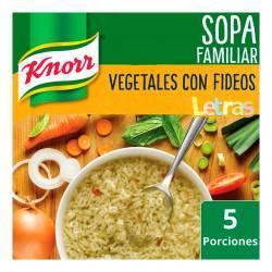 Sopa de Vegetales con Fideos Letras Knorr x 107 g.