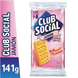 Galletitas Crackers Club Social Jamón x 6 un. 141 g.