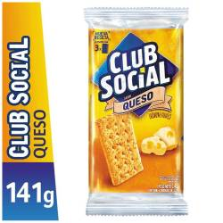 Galletitas Crackers Club Social Queso x 6 un. 141 g.