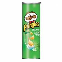 Papas Fritas Pringles Crema y Cebolla x 124 g.