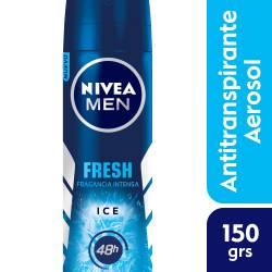 Antitranspirante Nivea Aero Fresh Ice Men x 150 cc.