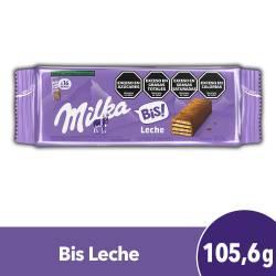Oblea Rellena y Cubierta de Chocolate Milka Bis x 106 g.