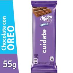 Chocolate con Leche Milka con Galletitas Oreo x 55 g.