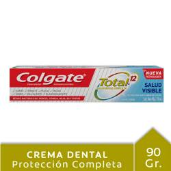 Crema Dental Total 12 Colgate Salud Visible x 90 g.