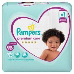 Pañal Pampers Premium Care Híper Pack XXG x 34 un.
