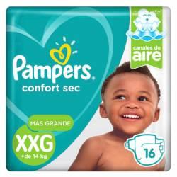 Pañal Pampers Confort Sec Mega Pack XXG x 16 un.
