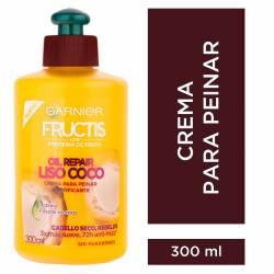 Crema para peinar Fructis Oil Repair Liso Coco x 300 cc.