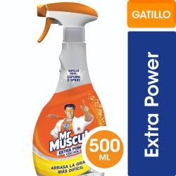 Limpiador Líquido Cocina Mr. Músculo Extra Power Gatillo x 500 cc.