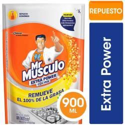Limpiador Líquido Cocina Mr. Músculo Extra Power Doy Pack x 900 cc.