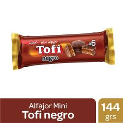 Alfajor Mini Tofi Chocolate Negro x 6 un. 144 g.