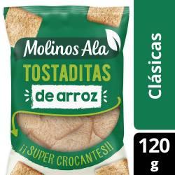 Tostaditas de Arroz Crocantes Molinos Ala Clásicas x 120 g.