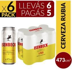 Cerveza Isenbeck Pack x 6 Latas de 473 cc.