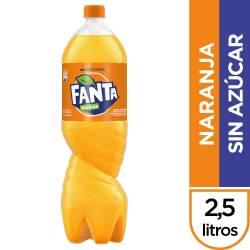 Gaseosa Naranja sin Azucar Pet Fanta x 2,5 Lt.