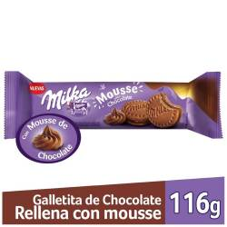 Galletitas con Mouse Milka Chocolate x 116 g.
