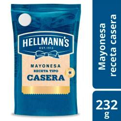 Mayonesa Tipo Casera Hellmanns Doy Pack x 232 g.