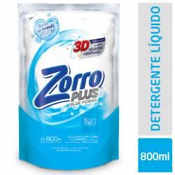 Jabón Líquido Zorro Blue Power Doy Pack x 800 cc.
