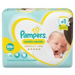 Pañal Premium Care Hiper Pampers RN x 36 un.