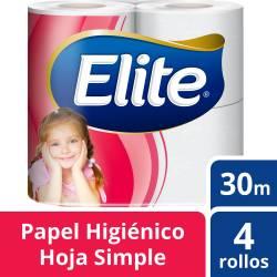 Papel Higiénico Hoja Simple Elite x 4 un.