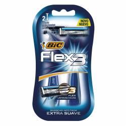 Máquina Afeitar Descartable Bic Flex 3 x 2 un.