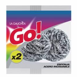Esponja de Acero Inoxidable Go La Gauchita x 2 un.