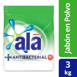 Jabón Polvo Baja Espuma Ala Matic Antibacterial x 3 kg.