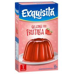 Gelatina en Polvo Exquisita Frutilla x 40 g.