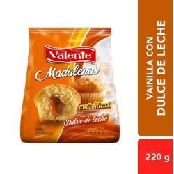 Madalenas Rellenas Valente con Dulce de Leche x 250 g.