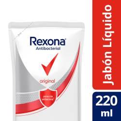 Jabón Líquido para Manos Antibacterial Rexona Original Doy Pack x 220 g.