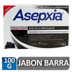 Jabón de Tocador Asepxia Carbón Detox x 100 g.