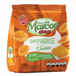 Snack de Arroz Don Marcos Queso Cheddar x 80 g.