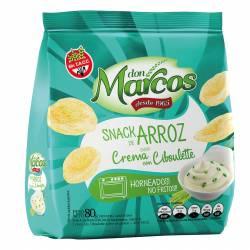 Snack de Arroz Don Marcos Crema con Ciboullete x 80 g.