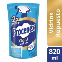 Limpiador Líquido Vidrios Procenex Gold Doy Pack x 820 cc.