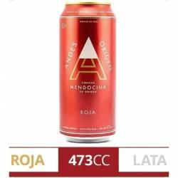 Cerveza Mendocina Roja Andes Origen Lata x 473 cc.