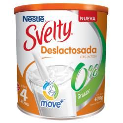 Leche en Polvo Descremada Svelty 0% Lactosa x 400 g.