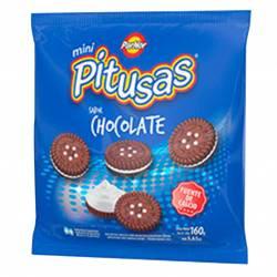 Galletitas Mini Rellenas Pitusas Chocolate x 160 g.