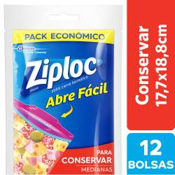Bolsa p/Conservar Mediana Ziploc x 12 un.