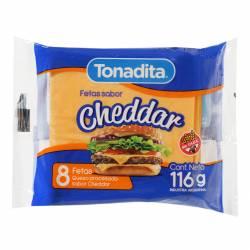 Queso Cheddar en Fetas Tonadita x 116 g.