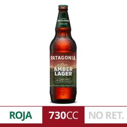 Cerveza Patagonia Amber Lager NO Retornable x 730 cc.