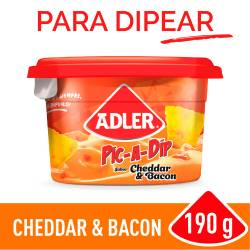 Queso untable Adler Cheddar y Bacon x 190 g.