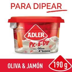 Queso untable Adler Oliva y Jamón x 190 g.