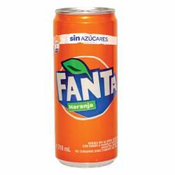 Gaseosa Naranja sin Azúcar Fanta Lata x 310 cc.