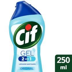 Gel 2en1 Limpieza + Acción Antibacterial Cif Original x 250 cc.