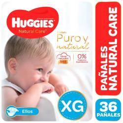 Pañal Huggies Natural Care Mickey Híper Pack XG x 36 un.