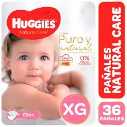 Pañal Huggies Natural Care Minnie Híper Pack XG x 36 un.