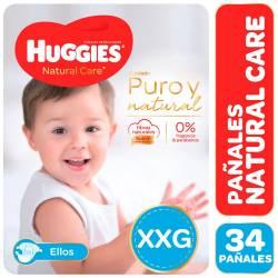 Pañal Huggies Natural Care Mickey Híper Pack XXG x 34 un.