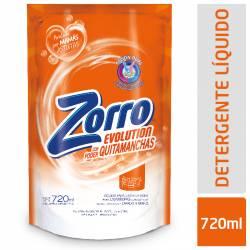 Jabón Líquido para Ropa Zorro Evolution Doy Pack x 720 cc.
