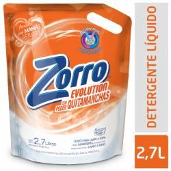 Jabon Liquido para Ropa Evolution Doy Pack Zorro x 2,7 Lt.
